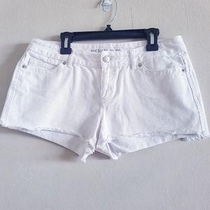 Michael Kors White Jean Short Shorts Size 4